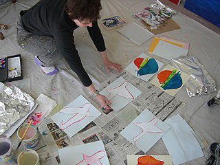 Grace Markman in her studio